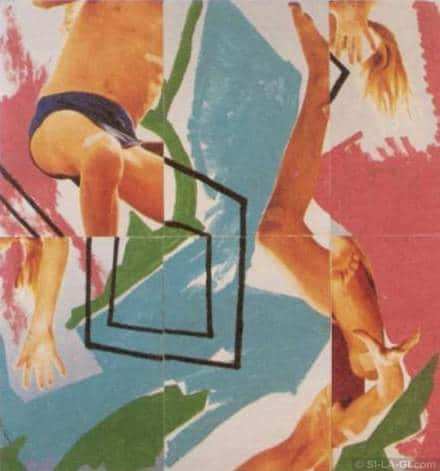 The Trap / Csapda - acrylic paint, silk-screen on paper - 200 x 210 cm - 1983