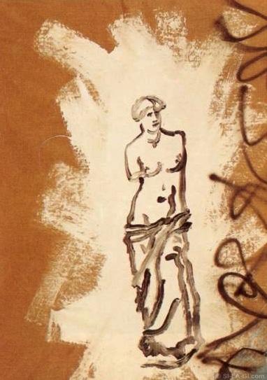 White Venus - acrylic on canvas - 130 x 100 cm - 1983