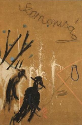 Grief - acrylic charcoal on linen 190 x 130 cm - 1968