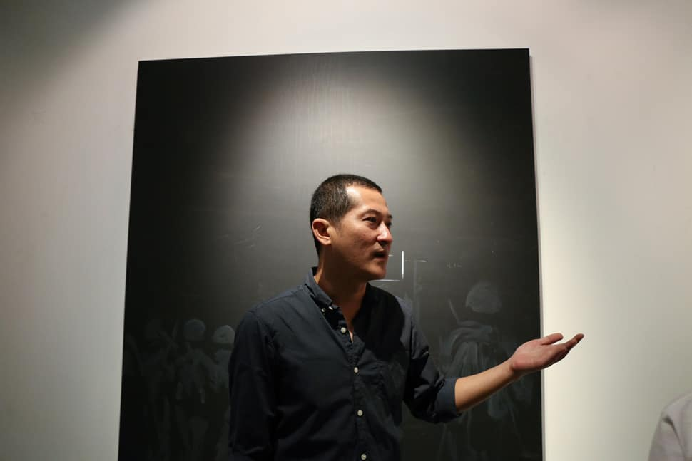 """KOANS"" exhibition at Tang Contemporary Art Gallery, with Tawan Wattuya (March 2014)"